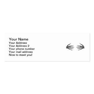 Skeleton hands business card