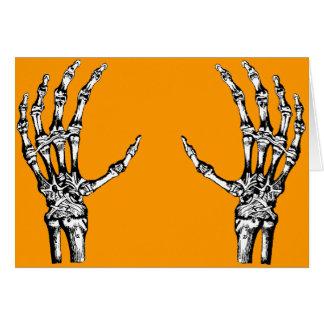 Skeleton hands greeting card