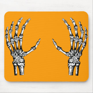 Skeleton hands mouse pad
