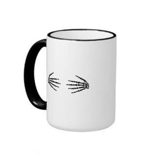 Skeleton hands mugs