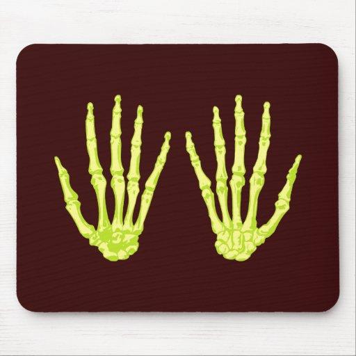 Skeleton hands sceleton hands mousepad