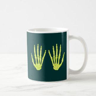 Skeleton hands sceleton hands coffee mugs