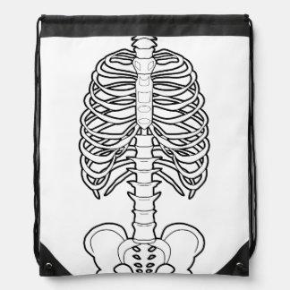 Skeleton Haunted Halloween Drawstring Bag