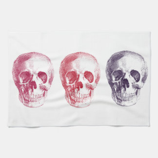 Skeleton Heads Hand Towel