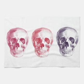 Skeleton Heads Tea Towel
