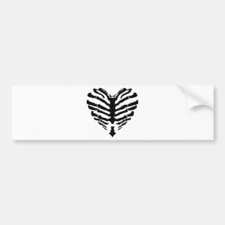 Skeleton Heart Bumper Sticker