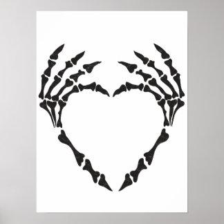 Skeleton Heart Poster