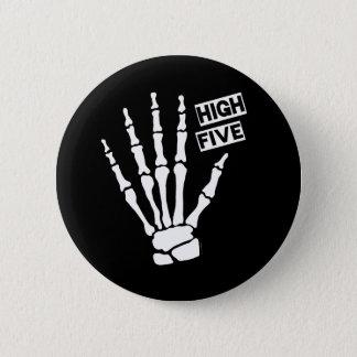 Skeleton High Five 6 Cm Round Badge