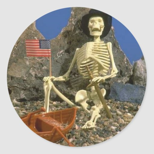 Skeleton Humor Stickers