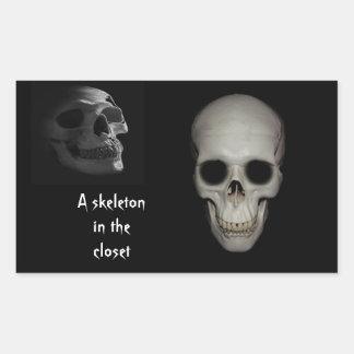Skeleton in the Closet Personalized Rectangular Sticker