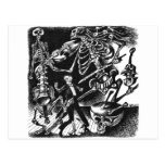 Skeleton Jam Band postcard