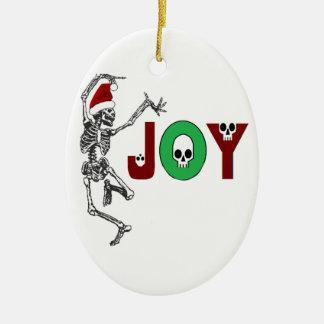 Skeleton Joy Christmas Ornament