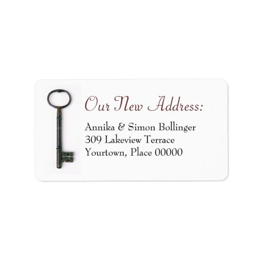 Skeleton Key New Address Address Label