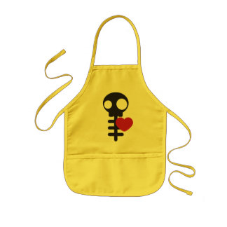 Skeleton Kids Apron