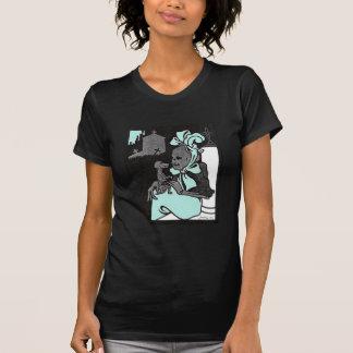 Skeleton Lady and Dog ladies T-shirt