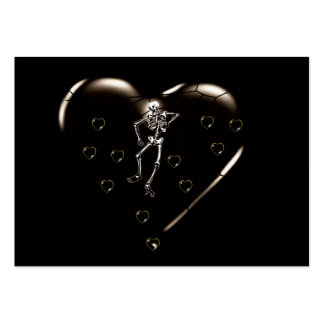 Skeleton Love Hearts Large Business Cards (Pack Of 100)
