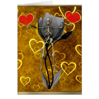 Skeleton Love Valentine Card