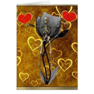 Skeleton Love Valentine Greeting Card