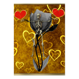 Skeleton Love Valentine Pack Of Chubby Business Cards