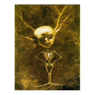 Skeleton Man Postcard by Odilon Redon