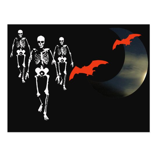 Skeleton March Postcard