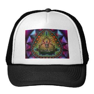 Skeleton Meditation kaleidoscope Fractal Trucker Hat