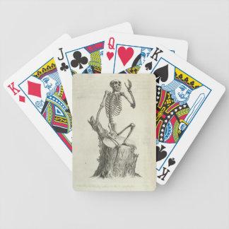 Skeleton Monkey Bicycle Playing Cards