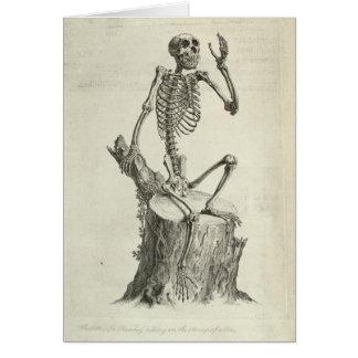 Skeleton Monkey Card