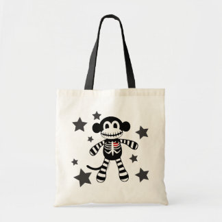 Skeleton Monkey Tote