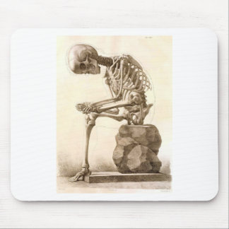skeleton mouse mat