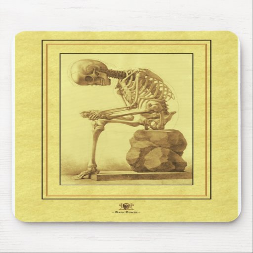 Skeleton mouse mat mouse mat