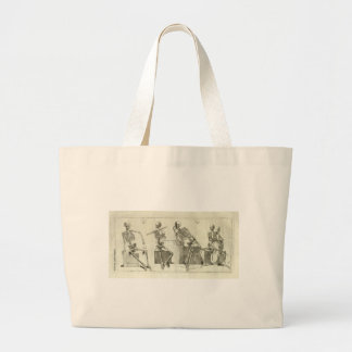Skeleton Musicians Large Tote Bag