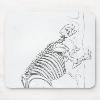 Skeleton of a Mylodon Mouse Mat
