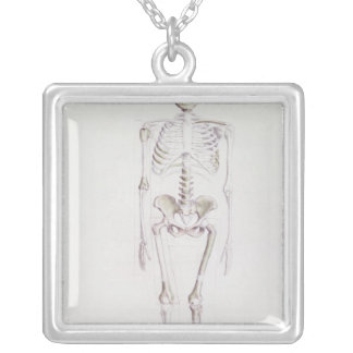 Skeleton of Australopithecus africanus Silver Plated Necklace
