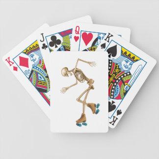 Skeleton on Roller Skates Bicycle Playing Cards