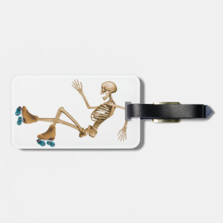 Skeleton on Roller Skates Luggage Tag