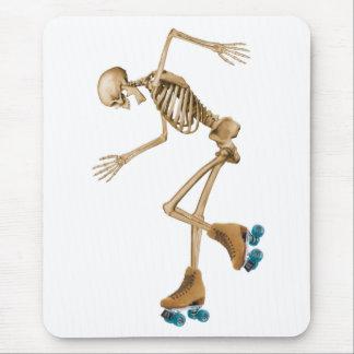 Skeleton on Roller Skates Mouse Pad