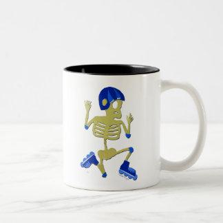 Skeleton on Rollerblades Mug