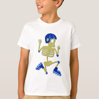 Skeleton on Rollerblades T-shirt