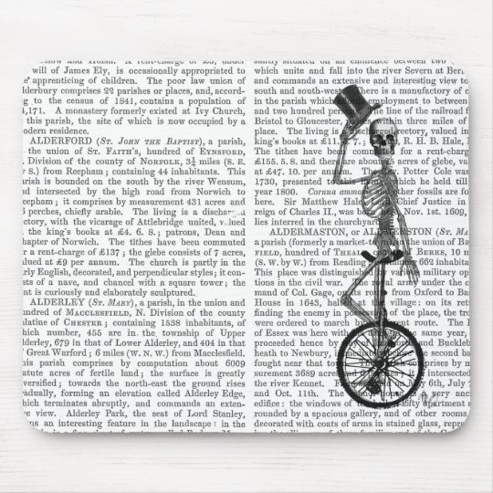 Skeleton on Unicycle Mouse Mat