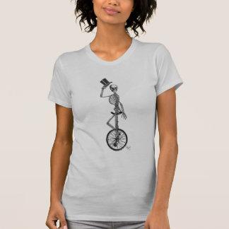 Skeleton on Unicycle Tshirt