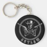 Skeleton Outlaw Key Rings Basic Round Button Key Ring