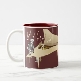 Skeleton Pianist Coffee Mug