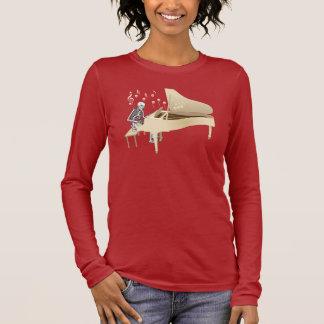Skeleton Pianist Long Sleeve T-Shirt