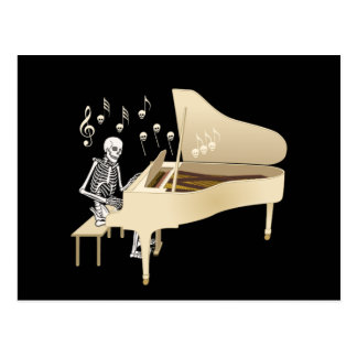 Skeleton Pianist Postcard