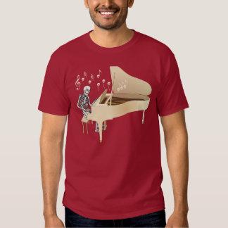 Skeleton Pianist Tshirts