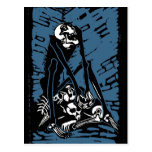 Skeleton Pile Postcard