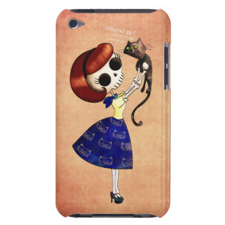 Skeleton Pin up Girl with her Cat Barely There iPod Covers