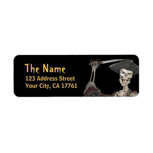 Skeleton Pirate Return Address Labels