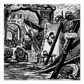 Skeleton Pirates circa 1951 Poster